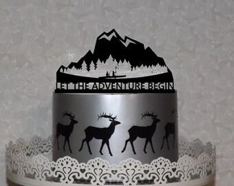 Mountain Cake Topper Etsy