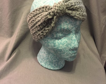 Knotted Crochet Headband/Ear Warmer