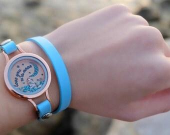 Rose gold bracelet, mermaid beach bracelet, beach bracelet, mermaid bracelet, ocean bracelet, modern bracelet, nautical bracelet, rose gold.