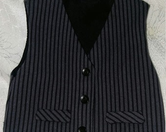 "Boy Doll Clothes -black and gray striped Waistcoat / Vest for 18""  Boy Doll -Trendy/ AG doll clothes"