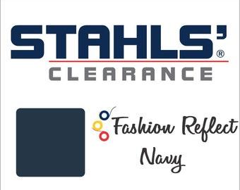 "20"" Stahls' Fashion-Reflect - *REFLECTIVE* - Iron-on Heat Transfer Vinyl - HTV – Navy Blue"
