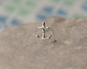 Tiny ANCHOR Nose Stud | GIFT for her | Gauge customize and shape | sterling silver|nose stud piercing jewelry |100% handcrafted |by PICOLANE