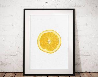 Fruit art, Orange wall art, Citrus print, Fruit print, Kitchen wall art, Fruit poster, Orange print, Fruit printable, Fruit photography