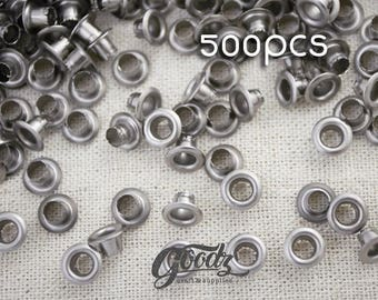 "5mm x500PCS.Gunmetal Hole metal Eyelets  5mm 13/64"" /  Grommet / Eyelet / Black Chrome"