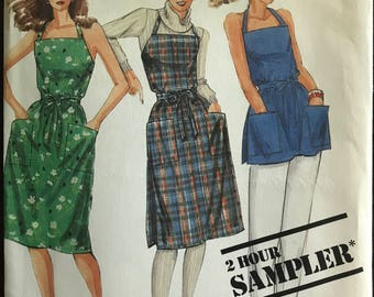 McCalls Sample - 1980s 2 Hour Wrap Dress or Top with Patch Pockets - Size 6 8 10 12 14 16 18 20
