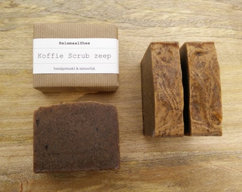 Coffee Scrub Soap / Exfoliating / Kitchen / Vegan / Natural / handmade / Peeling / scrubsoap for a firm peeling / with pumice