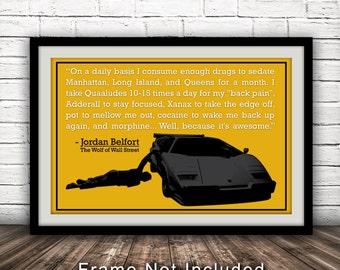 The Wolf of Wall Street-Inspired Movie Poster - Fan Art, Minimalist