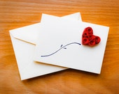 A Little Love Note Card - Valentine's Day card, Anniversary card, red roses