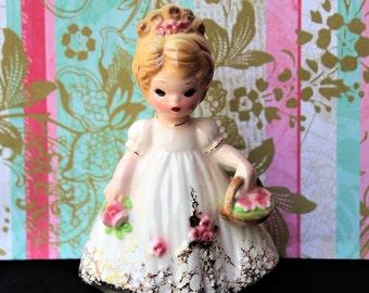 "Vintage Josef Originals ""FLOWER GIRL"" FIGURINE"