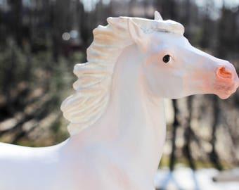 Custom Breyer Model Horse - Cremello White Mustang - Custom Breyer Horse - White Mustang Stallion - Model Horse - Custom Model Horse