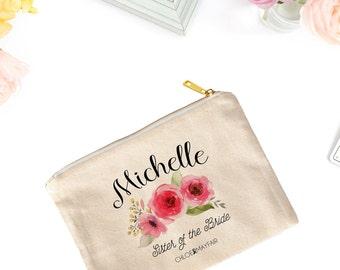 Rose Bridal Cosmetic Bag-Bridal Party Makeup Bag-Personalized-Bachelorette-Makeup Bag for Bridesmaid-Fun & Inspirational Gifts