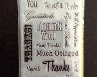 Clear Stamps, 20 Pieces Total, Various Sentiments, Scrapbooking, Card Making, Inkadinkado