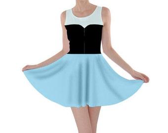 Adult Ariel Little Mermaid Inspired Skater Dress