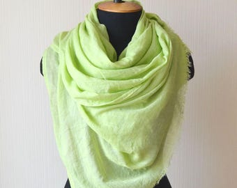 Green scarf womens gift|for|women cotton scarf summer scarf beach scarf women scarf gift fashion scarf mom gifts pashmina scarf long scarf