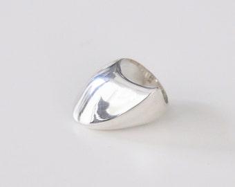 Georg Jensen Modernist Sterling Ring No. 91 Nanna Ditzel Design Denmark  1970s