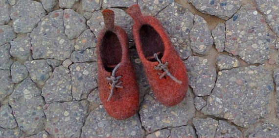 Felt slippers boots Men home shoes Wool shoes