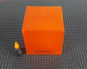Veuve Clicquot Ponsardin's lighter cube in orange plastic Circa 1990