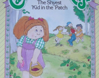 Cabbage Patch Kids - Vintage Illustrated Children's Story Book - The Shyest Kid in the Patch
