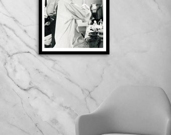 Audrey Hepburn wall art, Breakfast at Tiffany's decor, vintage fashion photography print, black and white, poster, digital download, instant
