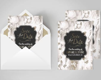 Save the Date Invitation | Save Date Marble, Marble Invitation, Wedding Marble, Elegant Save Date, Save Date Spring, Save Date Invite