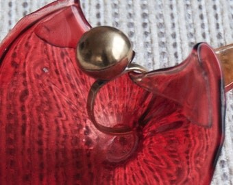 Daphne-brass ring with spherical handmade application