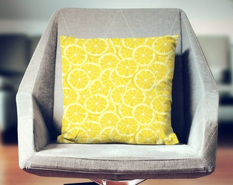Lemon Pillow | Lemon Decor | Lemon Throw Pillow | Lemon Cushions | Fruit Pillow | Fruit Home Decor | Yellow Pillow