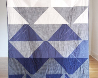 In the Grid Denim Quilt