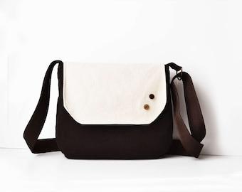 Gift idea women Crossbody bag small purse, Gift for teens bag, Fabric hip bag Cotton purse birthday gift satchel bag Small fabric purse gift