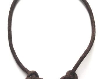 Node chain node heart Butterfly slim Brown