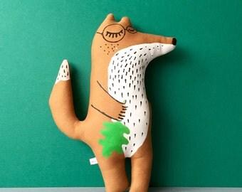 Monsieur Fox. Handmade, handprinted