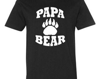 Papa Shirt Papa Bear TShirt Best Papa Ever Dad T Shirt Fathers Day Gift Daddy Tees Gifts For Dad Best Dad Gift Ideas New Dad Mens Tee - JM8