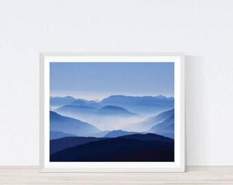 Blue print, Blue Sky Print, Cloud Art, Cloud Wall Art, Blue and Pink Sky, Sky Blue, Summer Evening, Sky Print, Sky Photography