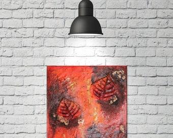 Original Abstract Acrylic Painting | Autumn 30x30 cm