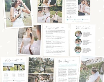 Wedding Photography Magazine Template, Wedding brochure, Welcome packet, 10 Page Digital Magazine, Wedding Photography Marketing, psd guide