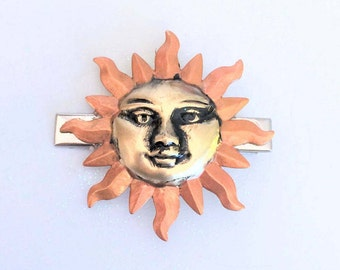 Sun Hair Clip, Alligator style Hair clip, Sunshine hair clip