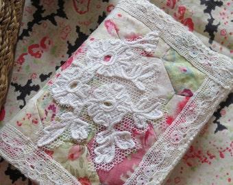 Heirloom Handmade  Needle Case Using Antique Vintage Eiderdown Fabrics