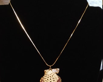 Gold tipped Scallop Shell necklace