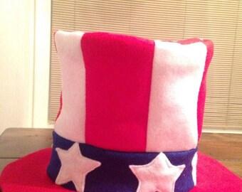 Handmade Felt Patriotic Fourth of July- Uncle Sam Hat