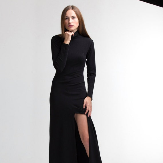 Maxi Dress Wedding Guest Long Sleeves Winter
