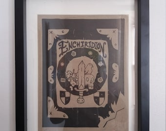 Enchiridion - Linocut