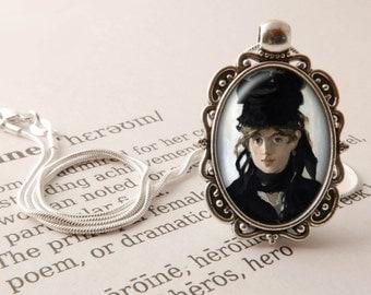 Berthe Morisot Pendant Necklace - Manet Pendant, Art Gift, Impressionist Necklace, Berthe Morisot Vintage Jewelry, Art History Jewellery