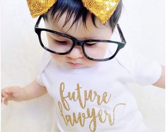 Future lawyer baby bodysuit - baby tee - baby one piece - baby shower gift - baby gift - newborn gift - baby girl gift - lawyer attorney mom