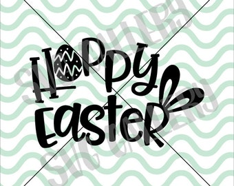 Easter SVG, Hoppy Easter SVG, bunny svg, Easter bunny svg, happy easter svg, Digital cut file, Easter egg svg, bunny svg, commercial use OK
