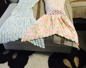 Crochet mermaid tail cozy. Baby soft mermaid tail cozy