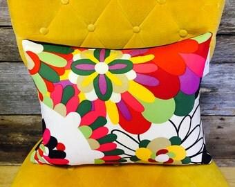 Missoni Pillow / Abstract Print / Flower Print