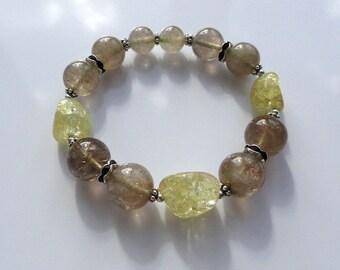 Rutilated quartz bracelet Bead bracelet Boho style Everyday Beaded bracelet Yoga bracelet Stones bracelet Mala Energy Healing bracelet Jm
