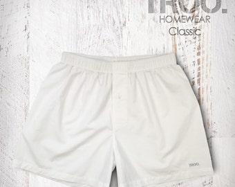 White Man Boxer Shorts White Man Boxers  Gift Underwear Classic Cotton Shorts Man Underwear