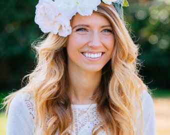 BLOOM Blush Boho Flower Crown Chic