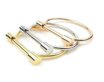 Horseshoe Shackle Bangle Bracelet