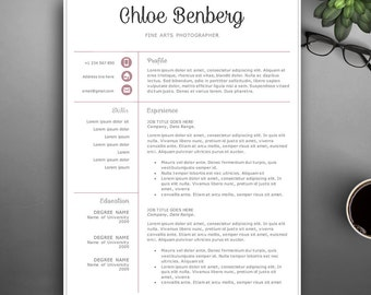 Professional Resume Template for Pages & MS Word. Complete 1,2,3 Pages Resume Template | Editable CV template. Creative, Elegant CV Template